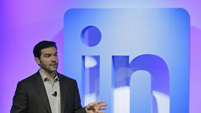 LinkedIn CEO Jeff Weiner. Picture: AP Photo/Eric Risberg.